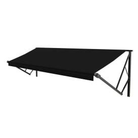 Classic Solera Manual Roller/Fabric 21 ft. Solid Black
