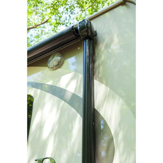 """Power Awning Hardware, Plain Head, Pitch (66-1/8"""" Arms) Black"""
