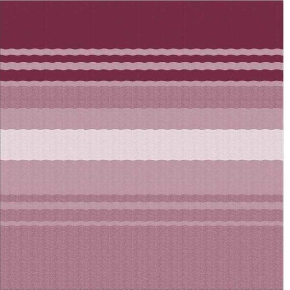 Power Awning Roller/Fabric Standard Vinyl Bordeaux Stripe 16'