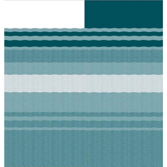 Fiesta Springload Awning Roller/Fabric Teal Stripe 16'
