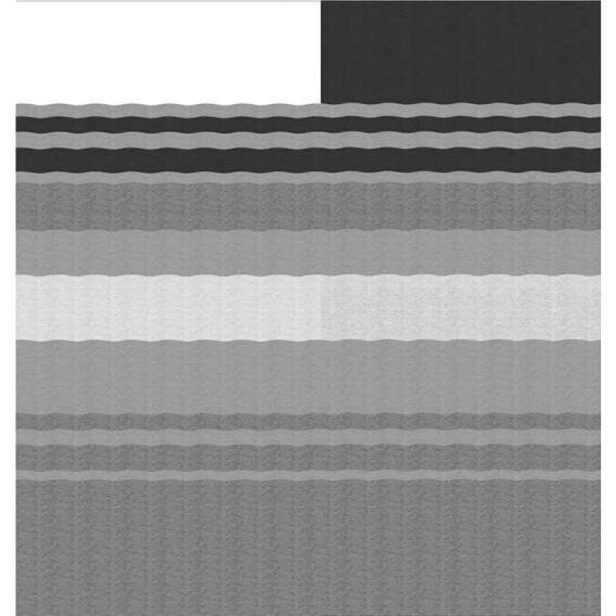 Fiesta Springload Awning Awning Black/Gray Stripe 17'