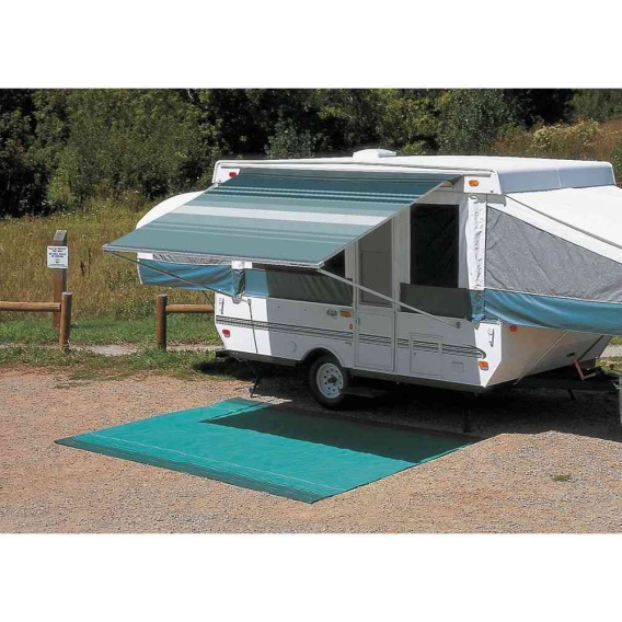 """Buy Carefree 981188E00 CampOut Bag Awning 9'10"""" Ocean Blue Stripe - Patio"""