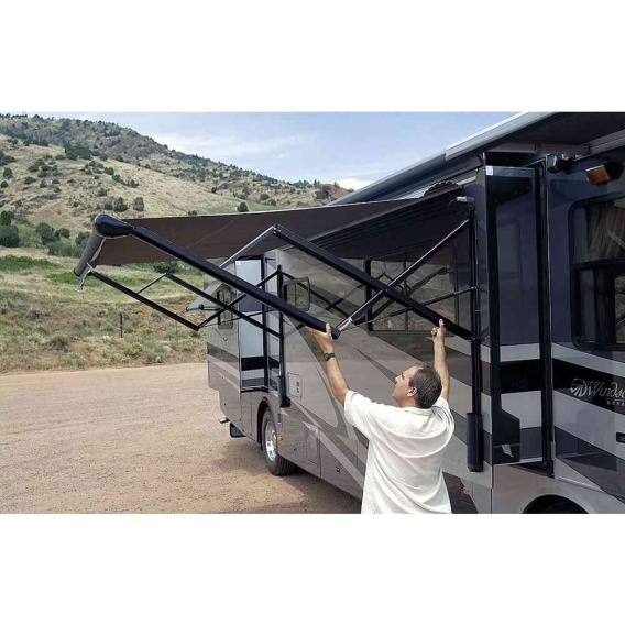 Buy Carefree VXJE50HW Eclipse Electric Awning Arms Black - Patio Awning