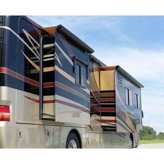 """Sideout Kover III Awning 169"""" Black w/Fabric"""