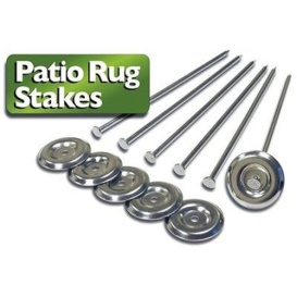 Patio Rug Stakes 6 Pack