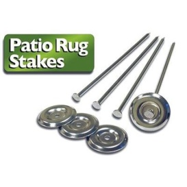 Patio Rug Stakes 4 Pack
