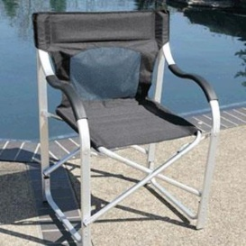 Buy Faulkner 2081 Directors Chair Aluminum Black - Camping and Lifestyle