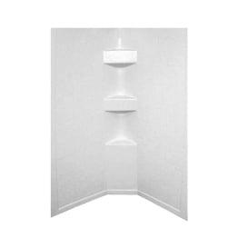 White Slate 34X34X64 Neo Tile Shower Surround