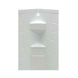 White Slate 34X34X68 Neo Tile Shower Surround