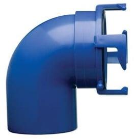 Hose Adapter 90-Degree Blue