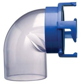 Hose Adapter 90-Degree Clear