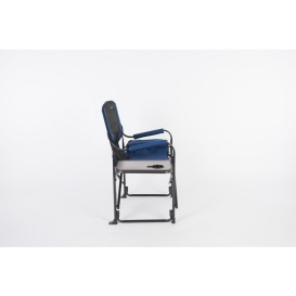 El Capitan Directors Chair Chrome Blue/Black