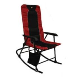 Dakota Folding Rocking Chair Burgundy/Black