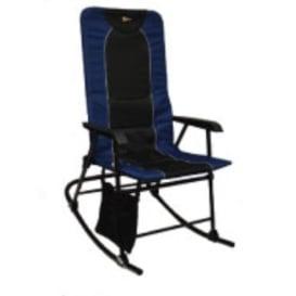 Dakota Folding Rocking Chair Blue/Black