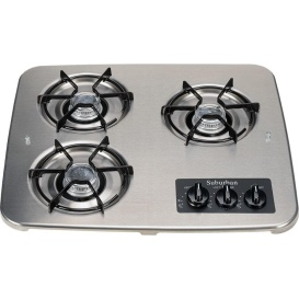 Drop-In 3 Burner Stainless Steel Match