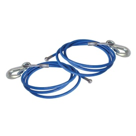 """1 Pair 76"""" EZ-Hook Safety Cables"""