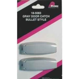 1 Pair Bullet Style Catch Gray