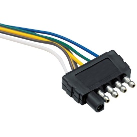 """5-Flat 48"""" Trailer End Wiring Harness"""