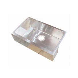 27X16X7 Stainless Steel Single Bowl Square Sink Farmers (Under Mount)