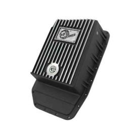 aFe POWER Transmission Pan Black w/ Machined Fins (6R80 Transmission)