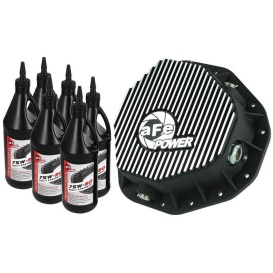 Pro Series Rear Differential Cover Kit Black w/ Machined Fins & Gear Oil