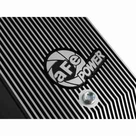 Transmission Pan, Black w/ Machined Fins