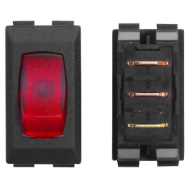 110V BLACK/RED LAMP