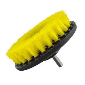 Brush MD Medium Duty Carpet Brush with Drill Attachment, Yellow