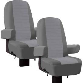 Overdrive RV Captain Seat Cover-2 Pack Grey