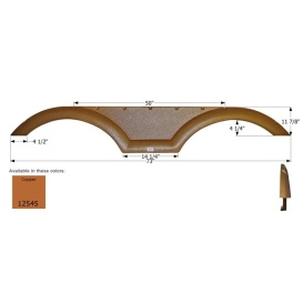 Fender Skirt, Tandem, Coachmen, FS2545, Copper Metallic