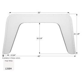 Fender Skirt, Single, Damon, FS2684, Polar White