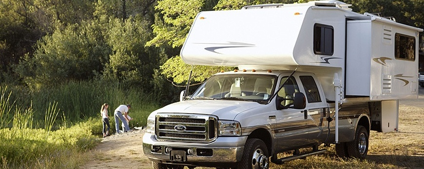 Truck Campers and Truck Camper Tie-Downs